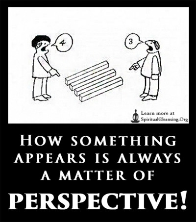 How something appears is always a matter of perspective!