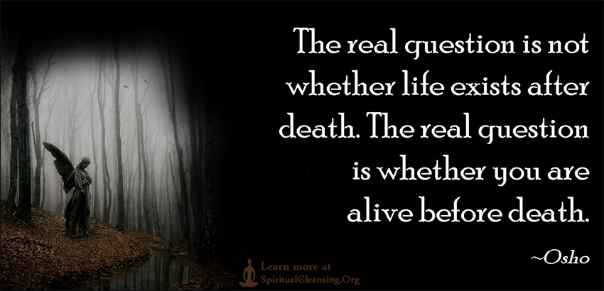 The real question is not whether life exists after death. The real question is whether you are alive before death.