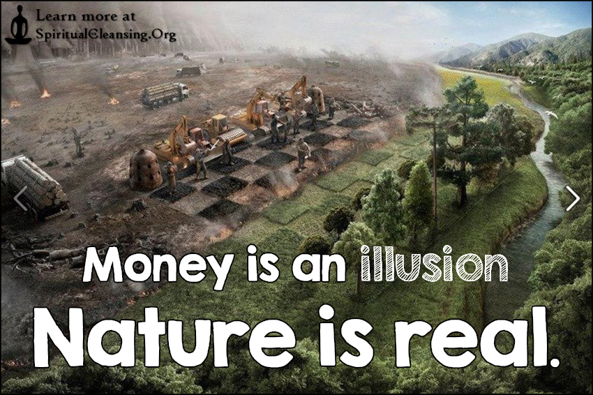 Money is an illusion nature is real.