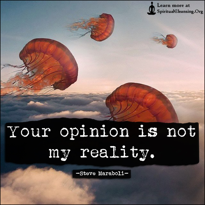 Your opinion is not my reality.