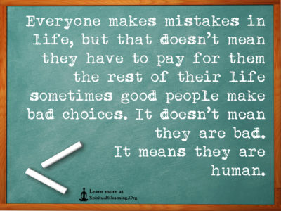 Everyone makes mistakes in life, but that doesn't mean they have to pay for them the rest of their