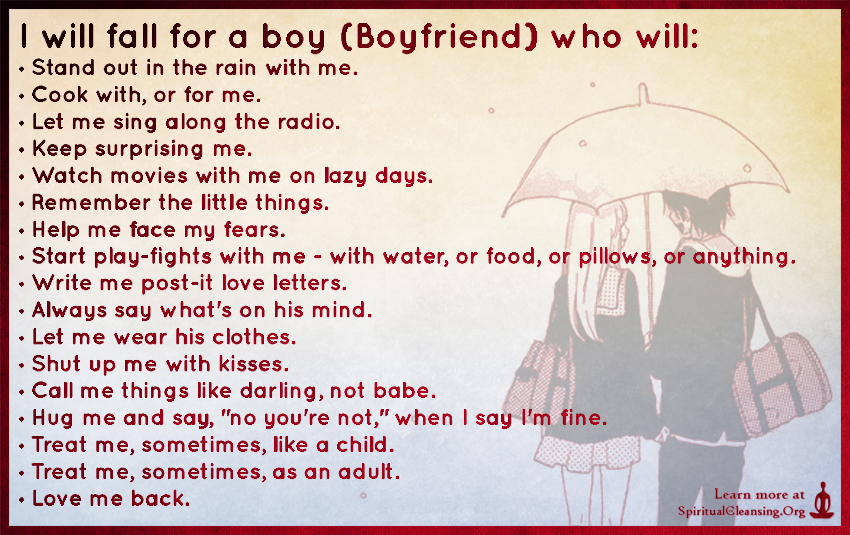 I will fall for a boy (Boyfriend) who will