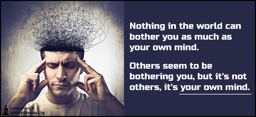 Nothing in the world can bother you as much as your own mind. Others seem to be bothering you, but it's not others, it's your own mind.