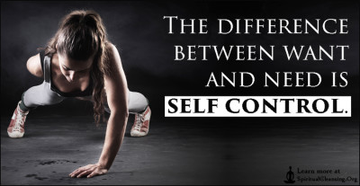The difference between want and need is self control.