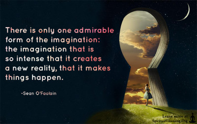 There is only one admirable form of the imagination - the imagination that is so intense that it creates a new reality