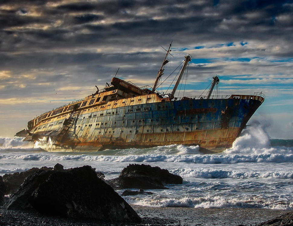 Wreck of the SS America - Fuerteventura, Canary Islands