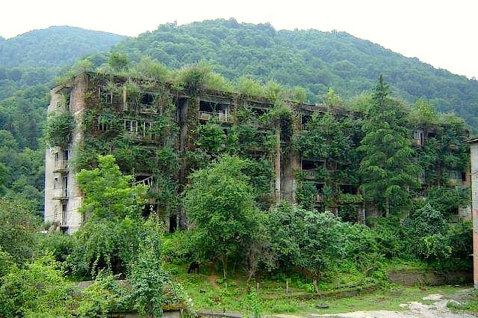 Abandoned ABKHAZIA, Georgian region.