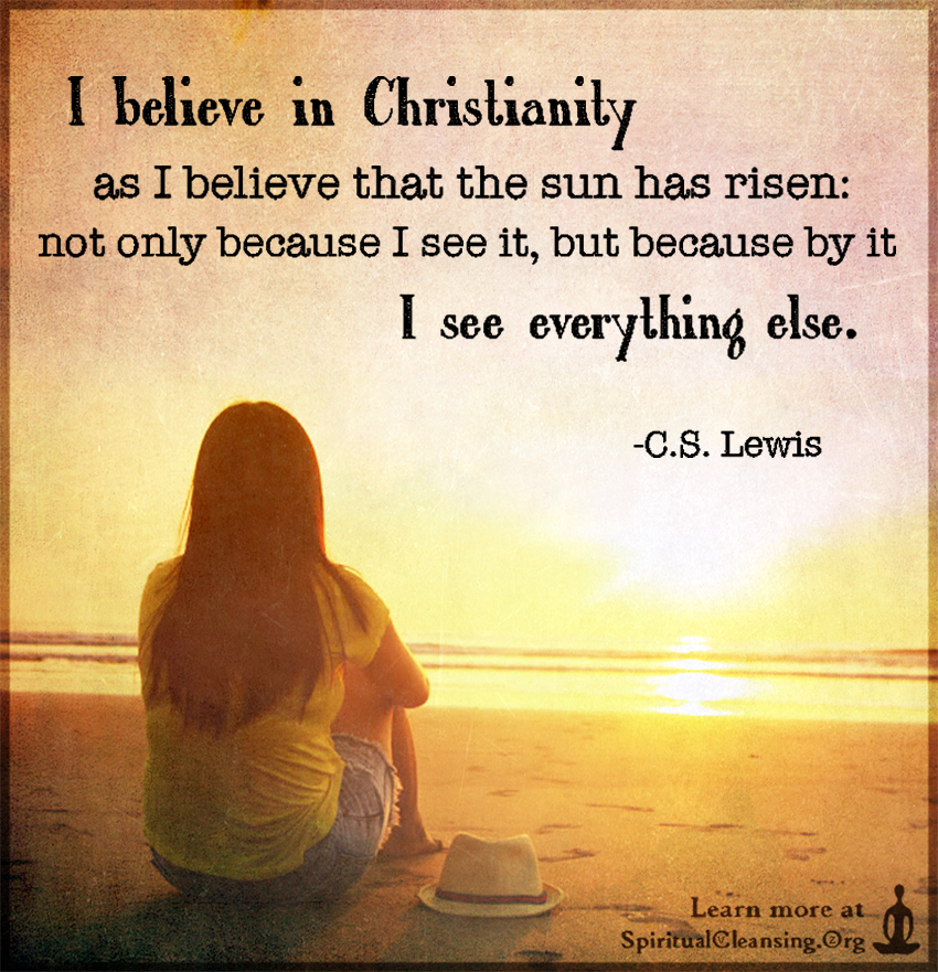 Cs lewis i believe in the sun