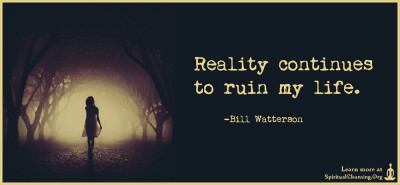 Reality continues to ruin my life.