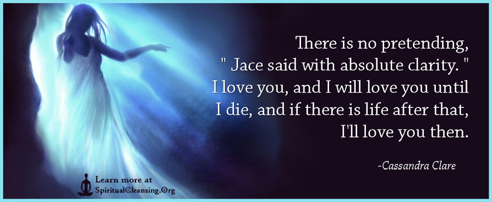 There is no pretending, Jace said with absolute clarity. I love you, and