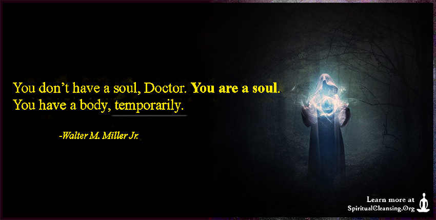 You don't have a soul, Doctor. You are a soul. You have a body, temporarily.