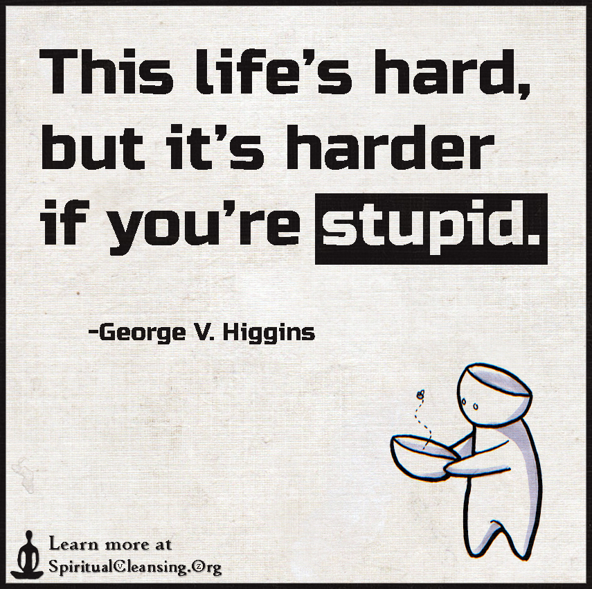This life's hard, but it's harder if you're stupid.