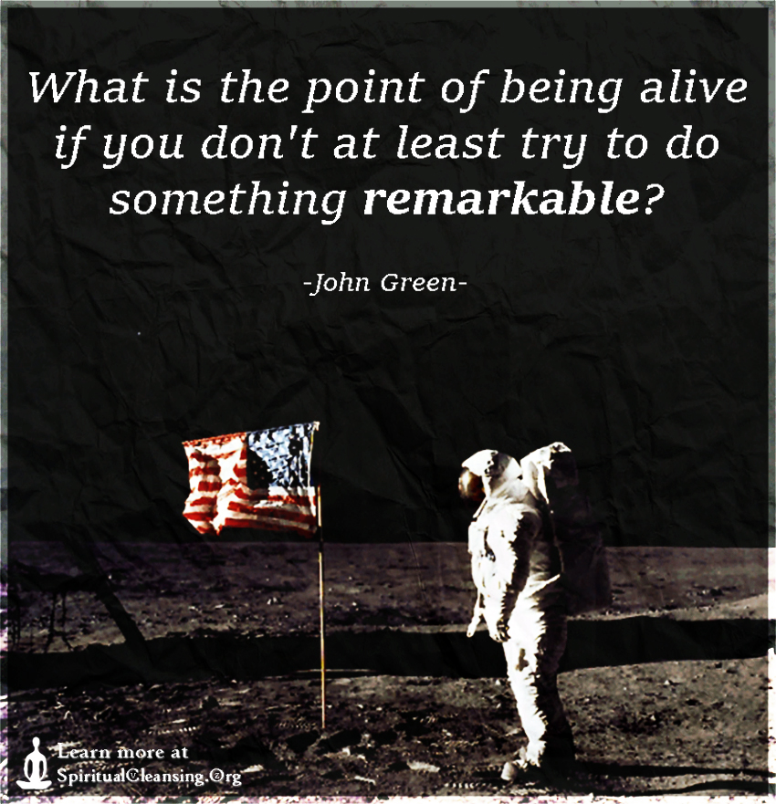 What is the point of being alive if you don't at least try to do something remarkable