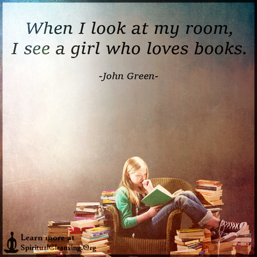when i look at my room i see a girl who loves books