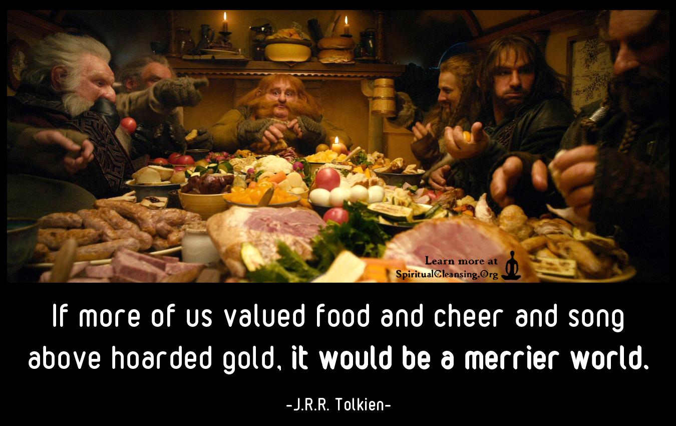 If more of us valued food and cheer and song above hoarded gold, it would be a merrier world.