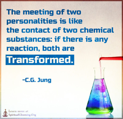 The meeting of two personalities is like the contact of two chemical