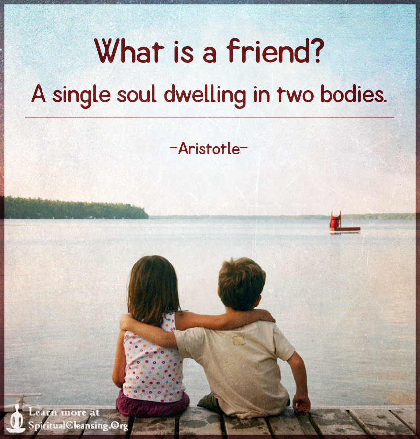 What is a friend A single soul dwelling in two bodies.
