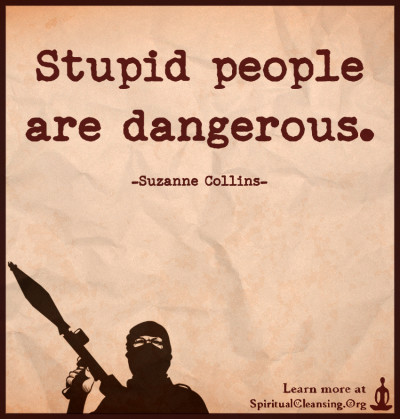 Stupid people are dangerous.