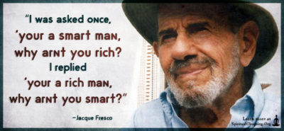 """I was asked once, 'your a smart man, why arnt you rich"