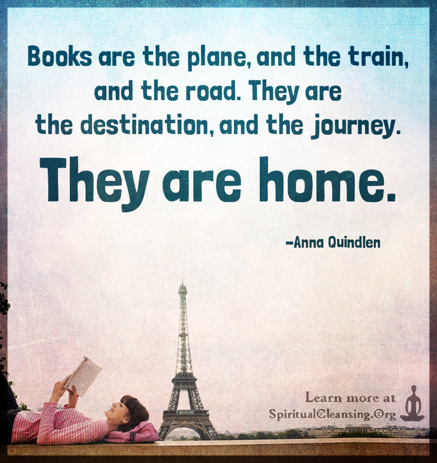 Books are the plane, and the train, and the road. They are the destination