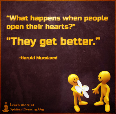 What happens when people open their hearts