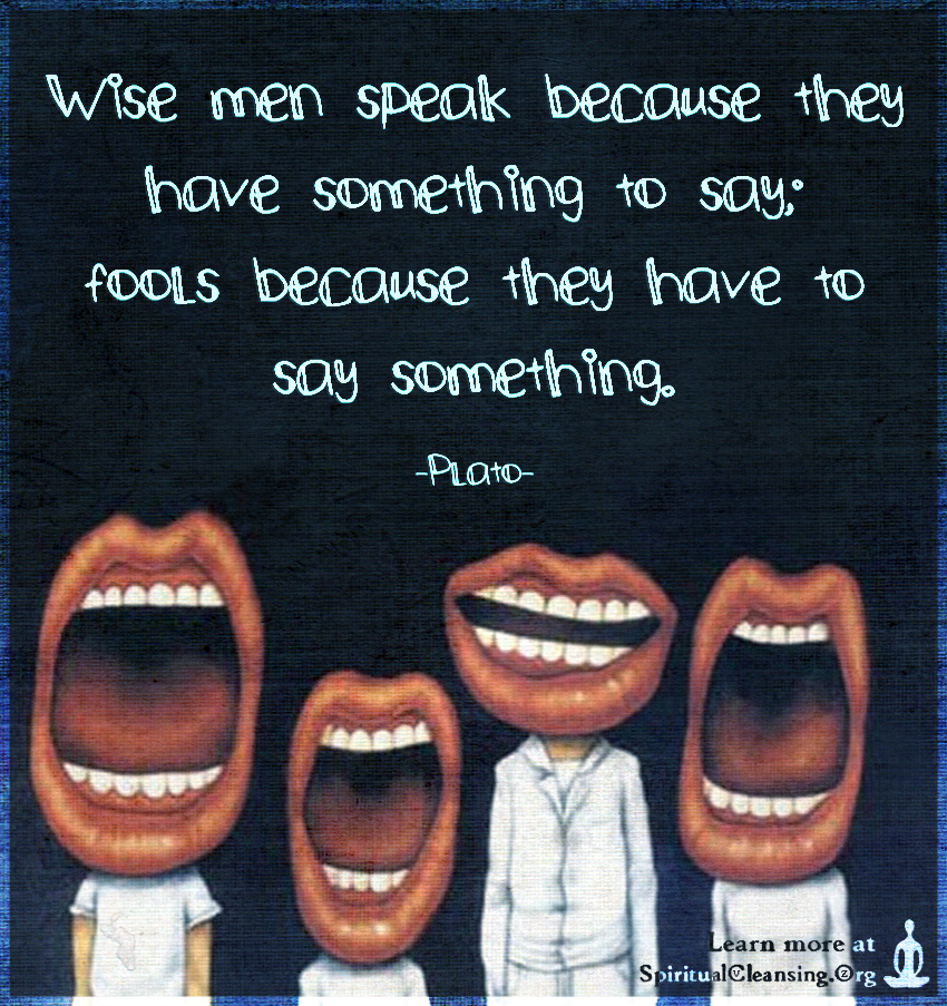 Image result for wise men speak because they have something to say