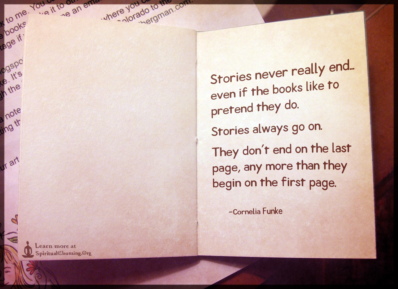 Stories never really end...even if the books like to pretend they do.