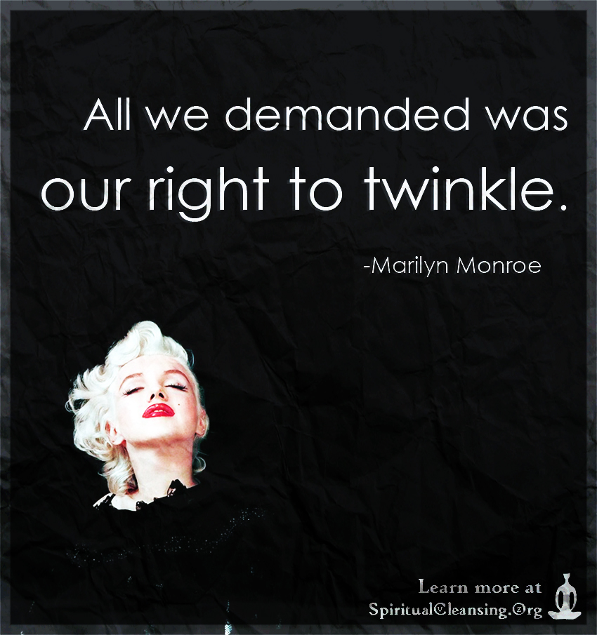 All we demanded was our right to twinkle.