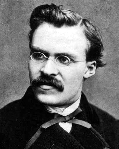Friedrich Nietzsche photo (black and white)