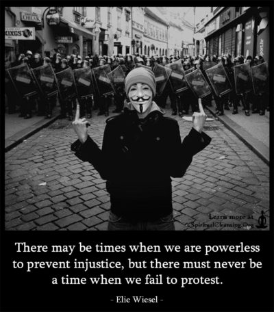 There may be times when we are powerless to prevent injustice, but there
