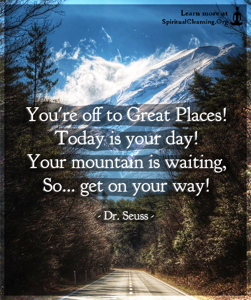 You're off to Great Places!