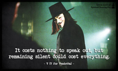 It costs nothing to speak out, but remaining silent could cost everything.