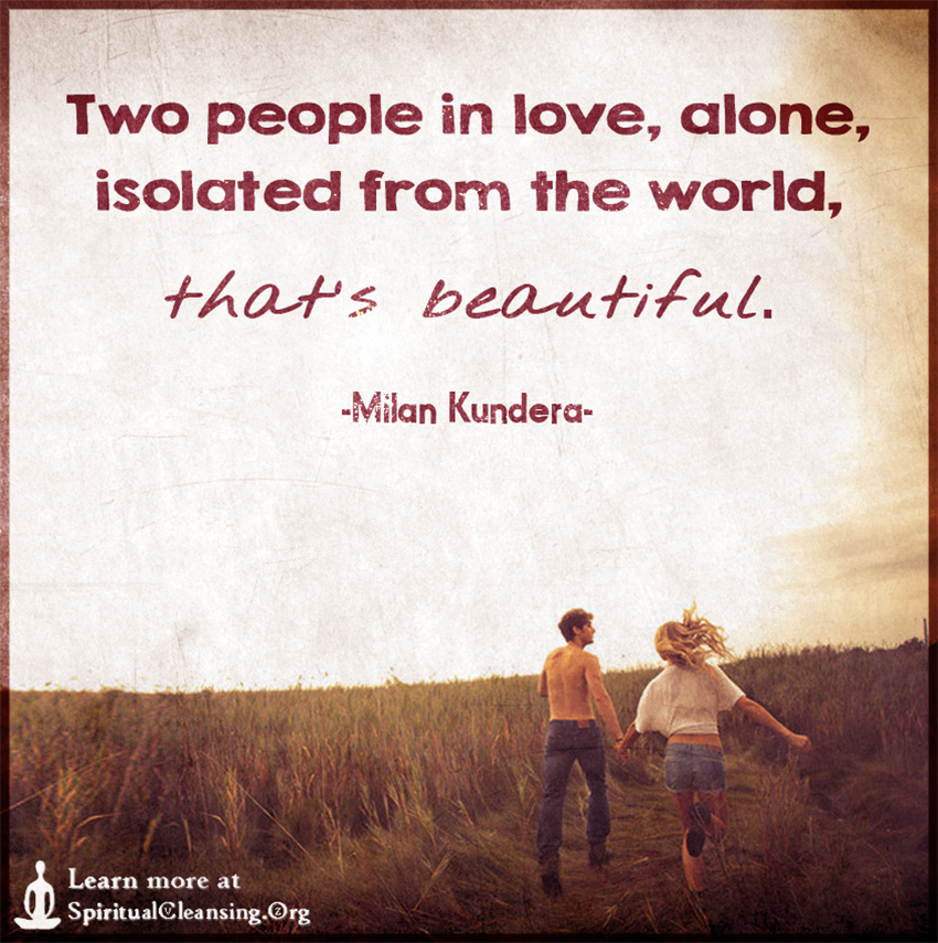 Two people in love, alone, isolated from the world, that\'s ...